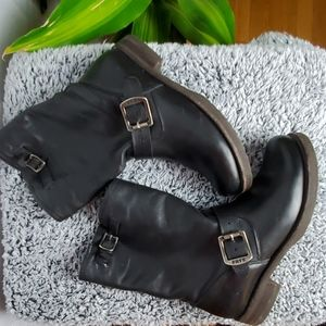 FRYE GENUINE LEATHER MOTORCYCLE BOOTS